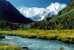 Altai. Mt. Belukha climbing. Akkem valley, upper part.